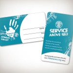 Rotaract Club Business Cards Rounded Corners